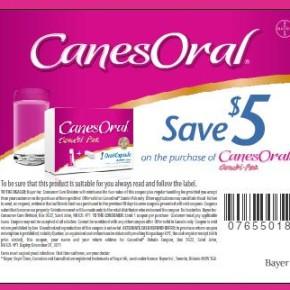 1701 11 290x290 - Coupon rabais à imprimer de 5 $ à l'achat de Canesten oral !