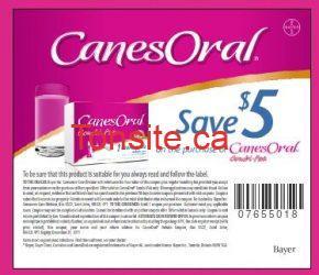 1701 11 - Coupon rabais à imprimer de 5 $ à l'achat de Canesten oral !