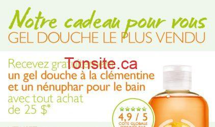 20130718 GWPLaunch CA FR 01 - GRATUIT chez The Body shop : obtenez un gel douche à la clémentine + un nénuphar pour le bain!