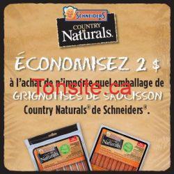 934756 565630616820312 978458174 n - Coupon rabais de 2 $ à l'achat de Saucisson Country Naturals de Schneiders