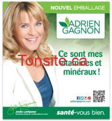AG headercard - Coupon rabais à imprimer de 1$ sur les vitamines et minéraux Adrien Gagnon !