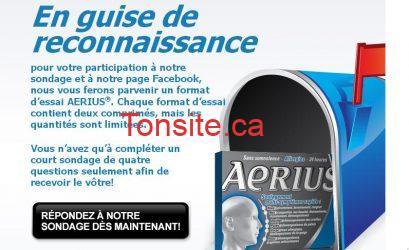 aerius coupon rabais - Rabais postale 5$ sur tout produit Aerius !