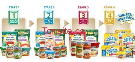 allstages food white - Plusieurs coupons rabais à imprimer sur les produits Heinz Baby !