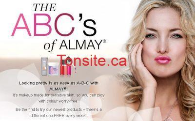 almay - Surveillez la page facebook de Almay pour des échantillons gratuits!