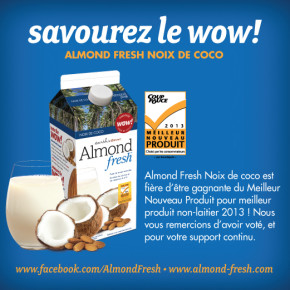 almond fresh 290x290 - Coupon de 1$ sur les boissons Earthsown Almond Fresh!