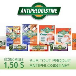 antiphlogistine 290x290 - Coupon rabais à imprimer de 1,50$ sur les produits Antiphlogistine!