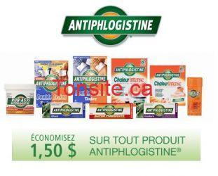 antiphlogistine - Coupon rabais à imprimer de 1,50$ sur les produits Antiphlogistine!