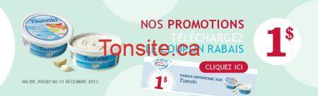 banniere promo coupon rabais tzatziki2013 - 3 coupon rabais imprimable de 1 $ sur les produits Damafro !
