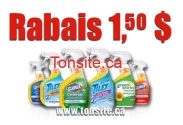 clorox - Coupon Rabais de 1,50$ sur toutes les bouteilles Clorox , Tilex  ou Green Works