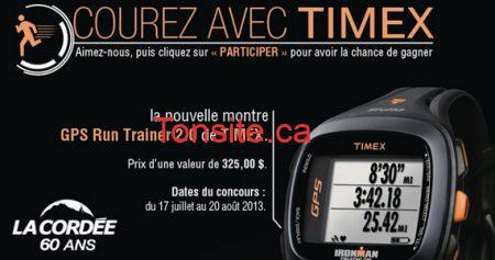 concours cordee timex 570 - Concours La Cordée: Gagnez une super montre Timex !