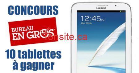 concours samsung bureau en gros 570 - Gagnez une des 10 tablettes Samsung 8 !