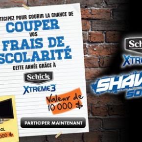 concours schick scolarite 570 290x290 - Concours Schick: Gagnez un chèque de 10 000 $