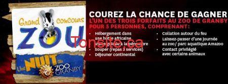 concours zoo granby - Concours Archambault : Gagnez un forfait au Zoo de Grandy pour 5 personnes!