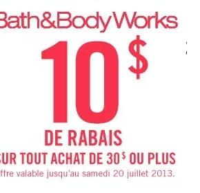 coupon rabais a imprimer 290x279 - Coupon rabais Bath&Body Works de 10$ !