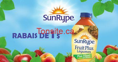 coupon sunripe 5701 - Jus SunRype: imprimer votre coupon rabais de 1$