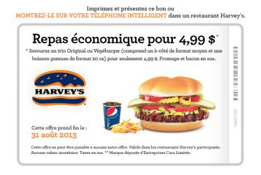 coupon HARVEYS