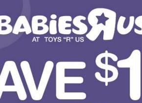 couponbabiesrus 290x211 - Coupon de 10$ à imprimer chez Toys R Us (section bébé)!