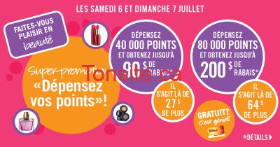 depenser vos points - 6-7 Juillet : Promotion Dépensez vos Points chez Pharmaprix!
