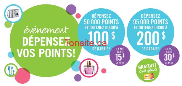 depensez - Ce Weekend: Promotion Dépensez vos Points chez Pharmaprix!
