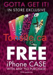 etui iphone gratuit - Deals La Senza : étui pour iPhone GRATUIT(avec achat)