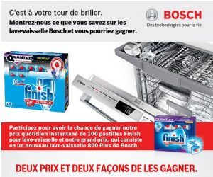 finishbosh - Concours Finish : gagnez un lave-vaisselle Bosch!