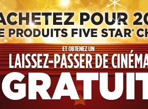 fivestar staples promo fr 290x215 - Bureau en Gros: achetez pour 20$ de produits Five Star et Obtenez un laissez-passez de cinéma gratuit!