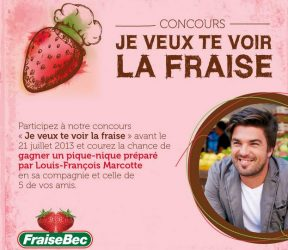 fraisebec - Gagner un pique-nique préparé par Louis-François Marcotte en sa compagnie et celle de 5 de vos amis.