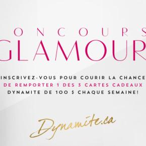 glamour 290x290 - Concours Glamour de Dynamite: Gagnez une carte cadeau 100$