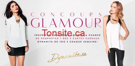 glamour - Concours Glamour de Dynamite: Gagnez une carte cadeau 100$