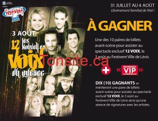 header - Gagnez 1 des 10 billets pour le spectacle de 12 VOIX à Lévis !!