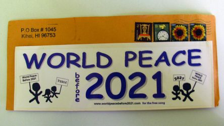 img 4252 - Échantillon gratuit d'autocollant World Peace Before 2021 !
