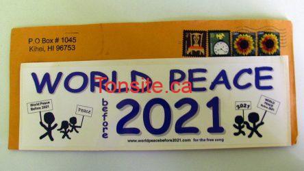 img 4252 - Échantillon gratuit d'autocollant World Peace Before 2021 !