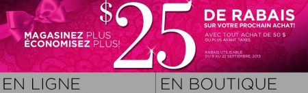 lavie en rose coupon rabais 25 - La vie en rose: Coupon rabais de 25$!