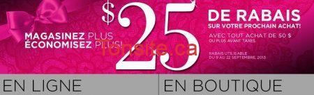 lavie en rose coupon rabais 25 - La vie en rose: Coupon rabais de 25$!