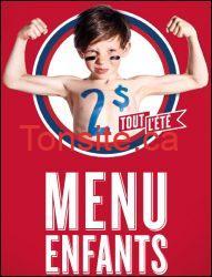 menuenfantsete - La Cage au Sports : Menu enfants gratuit dimanche!!