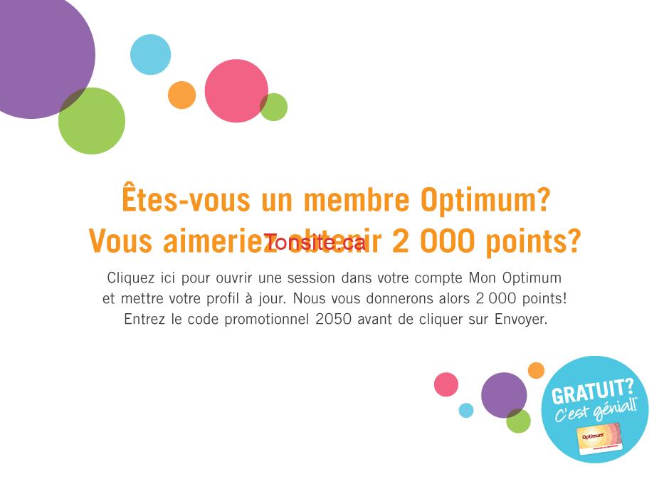 optium pharmaprix - Obtenez 2000 points Optimum gratuitement!