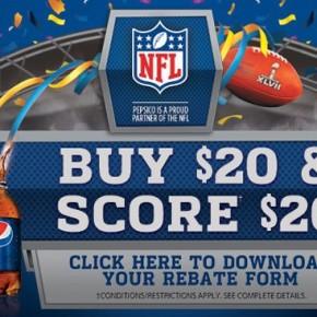 pepsi promo 290x290 - Pepsi : pour 20$ d'achats, obtenez 20$ remboursés !