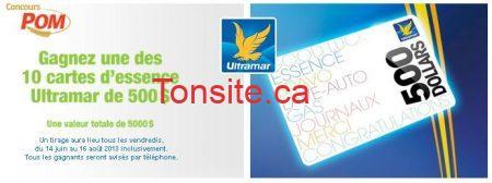 pom - Concours Pom: Gagnez une des 10 cartes d'essence Ultramar de 500$