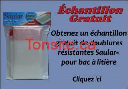 promo 210 FR - Échantillon gratuit de doublures résistantes Saular pour bac à litière