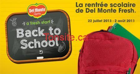 rentree sac a dos - Concours Del Monte: Gagnez 1 des 200 sacs à dos bien remplis