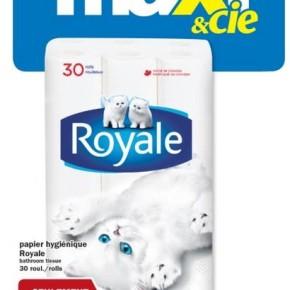 royale rouleaux promotion 290x290 - 30 rouleaux papier hygiénique < ROYALE > à 4,97$ chez Maxi