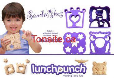 sandwich lunchpunch - Concours de lunchpunch: Gagner un ensemble à découper pour sandwichs!