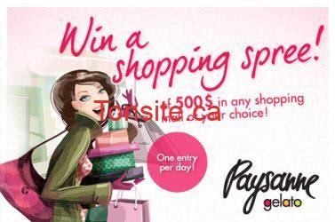 shoppingspree - Gagner une virée shopping de 500$ à avec les gelato Paysanne!