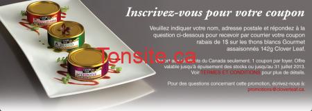 signup fr - Clover Leaf : nouveau coupon rabais de 1$ !