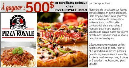 thumb.large810.515d896b 53c4 46e8 a9f9 34623ed44403 -  500$ en certificats cadeaux chez Pizza Royale à gagner !