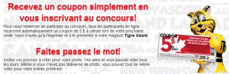 tigregeant - Concours Tigre géant : Gagnez une carte-cadeau Tigre Géant de 250 $