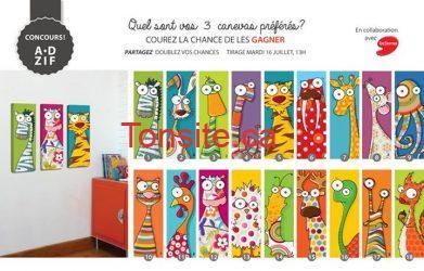 toiles - Concours DeSerres : gagnez 3 toiles imprimées de votre choix!