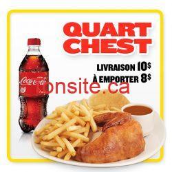 450x450 promo quart chest fr - St-Hubert: Quart de poulet avec Coca-Cola 591ml à 8 $