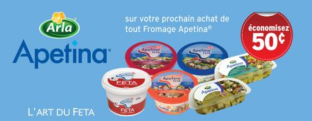 ApetinaCoupon800px - Coupon rabais à imprimer de 50¢ sur tout fromage Apetina