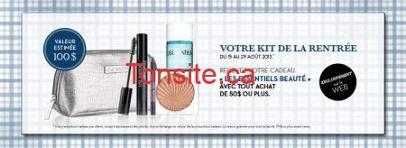 BackToSchool FR 1 - Lise Watier: recevez en cadeau votre kit les essentiels beauté à l'achat de 50$ ou plus